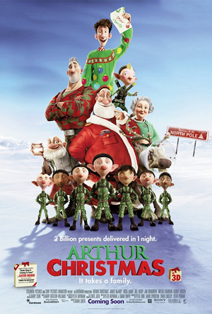 19. ARTHUR CHRISTMAS (2011) Smart, witty, great animation and ultimately a film that tugs at the heart strings. Again, a great list of actors lending their voices to the characters. Such as James McAvoy, Hugh Laurie, Bill Nighy, Jim Broadbent, Imelda Staunton, Ashley Jensen, Marc Wootton, Laura Linney and Eva Longoria. The animation is worth the watch. Another film you definitely shouldn't forget this Christmas.