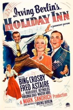 24. HOLIDAY INN (1942) GREAT FILM. If you love music, dancing and overall just a feel good Christmas movie, this one is the one for you. The concept is, Bing Crosby decides to take over a property and turn it into a hotel that only opens on certain holidays. Starring Fred Astaire (one of my favourite classic golden Hollywood stars) and Marjorie Reynolds. It's a wonderful film and features one of my favourite songs White Christmas.